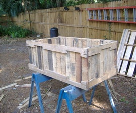 Planter from pallets, no nail pull method