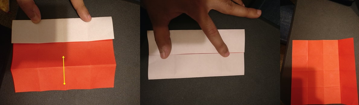 Picture of Unfold . Now Rotate the Paper and Make Another Door From the Remaining Sides