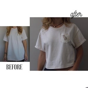 From Baggy Shirt to Cute Crop Top