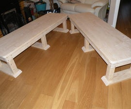 Solid wood bench/coffee table