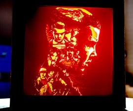 Laser Cut Stranger Things Lightbox