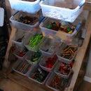 Reclaimed Plastic Container Organizer