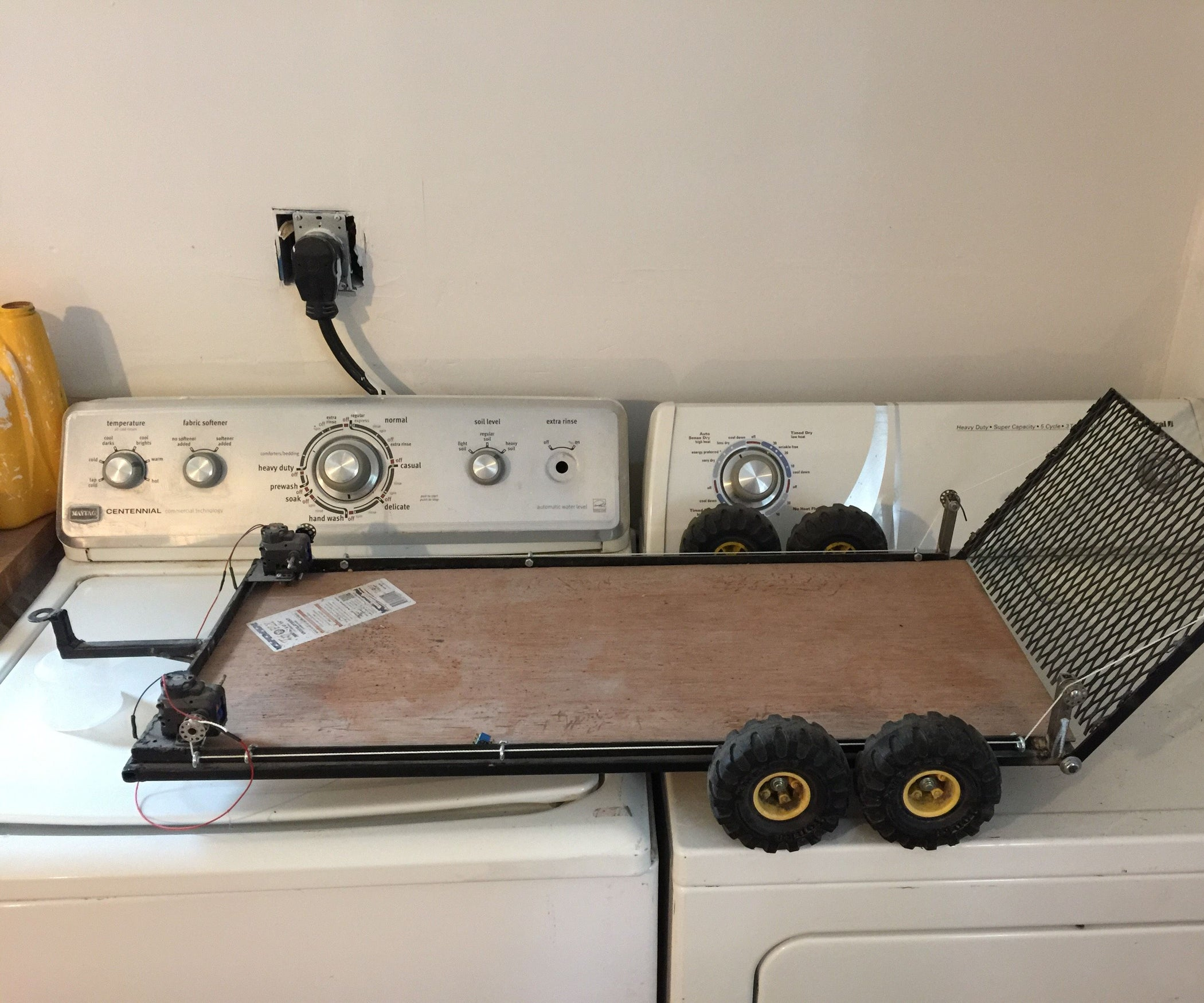 home made rc trailer 8 steps with pictures