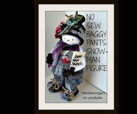 DIY BAGGY PANTS FROSTY SNOWMAN