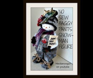 DIY BAGGY PANTS FROSTY SNOWMAN