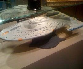 "3D CNC Carving a 32"" Starship"