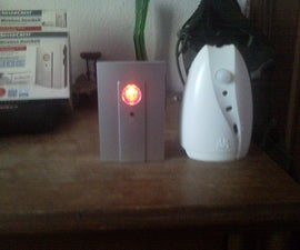 Portable wireless motion sensor triggered alarm with a wireless doorbell and an airwick motion sensor