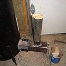 Gravity fed pellet burner