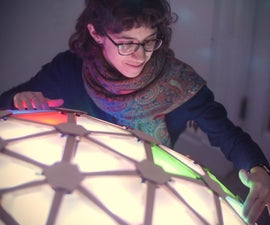 Interactive Geodesic LED Dome