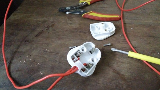 Connect Electric Wires to the 3 Pin Plug Top.