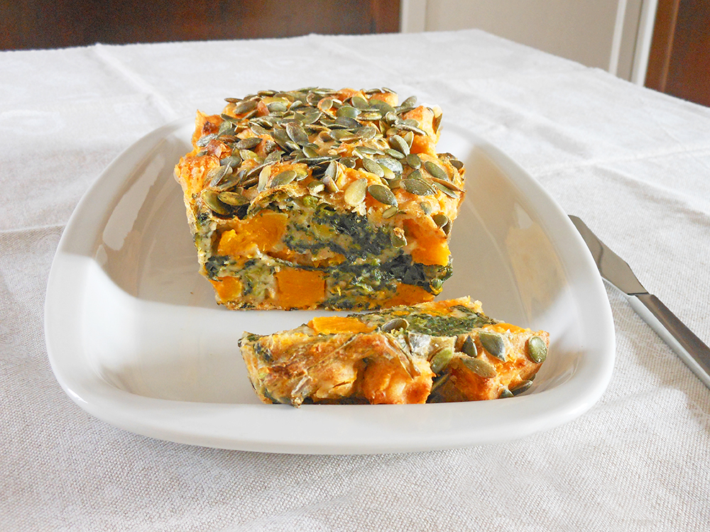Picture of Pumpkin and Spinach Cake
