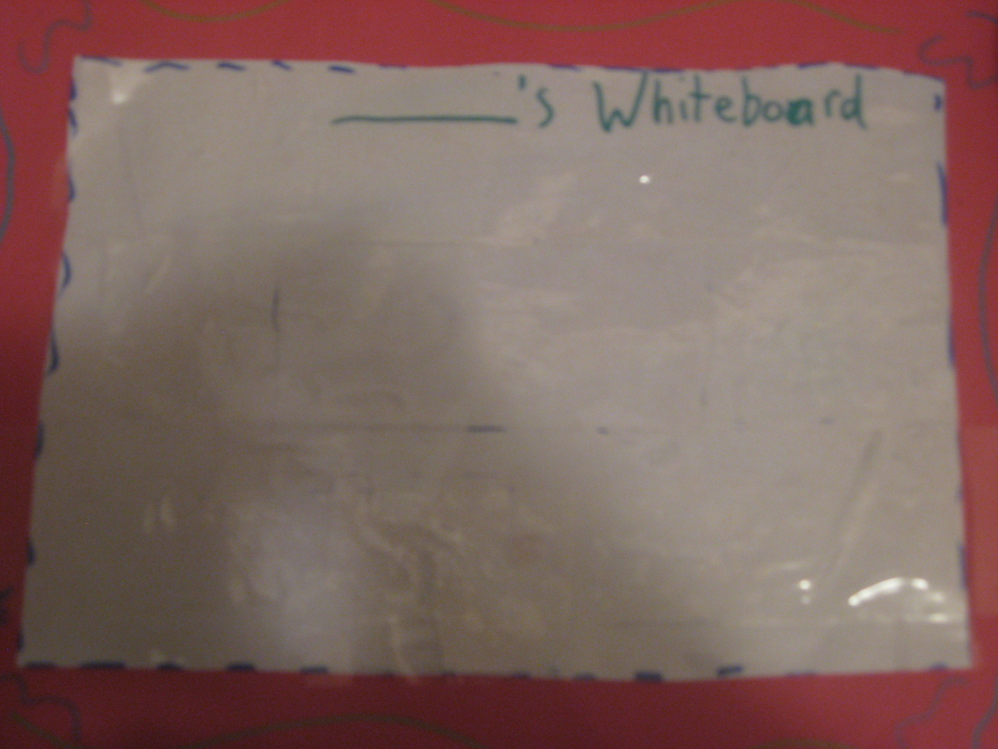 Picture of Paper Whiteboard
