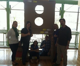 How to make a 3 chamber cardboard rocket ship with girl scout cookie box fuel canisters