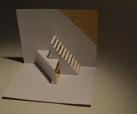 Kirigami Simple Escher Staircase