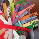 Gardening Labels From Paint Sticks