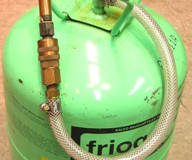 Air Can from Empty Refrigerant Can
