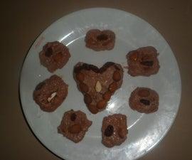 Indian Sweet Choclate Khalakand or Burfi