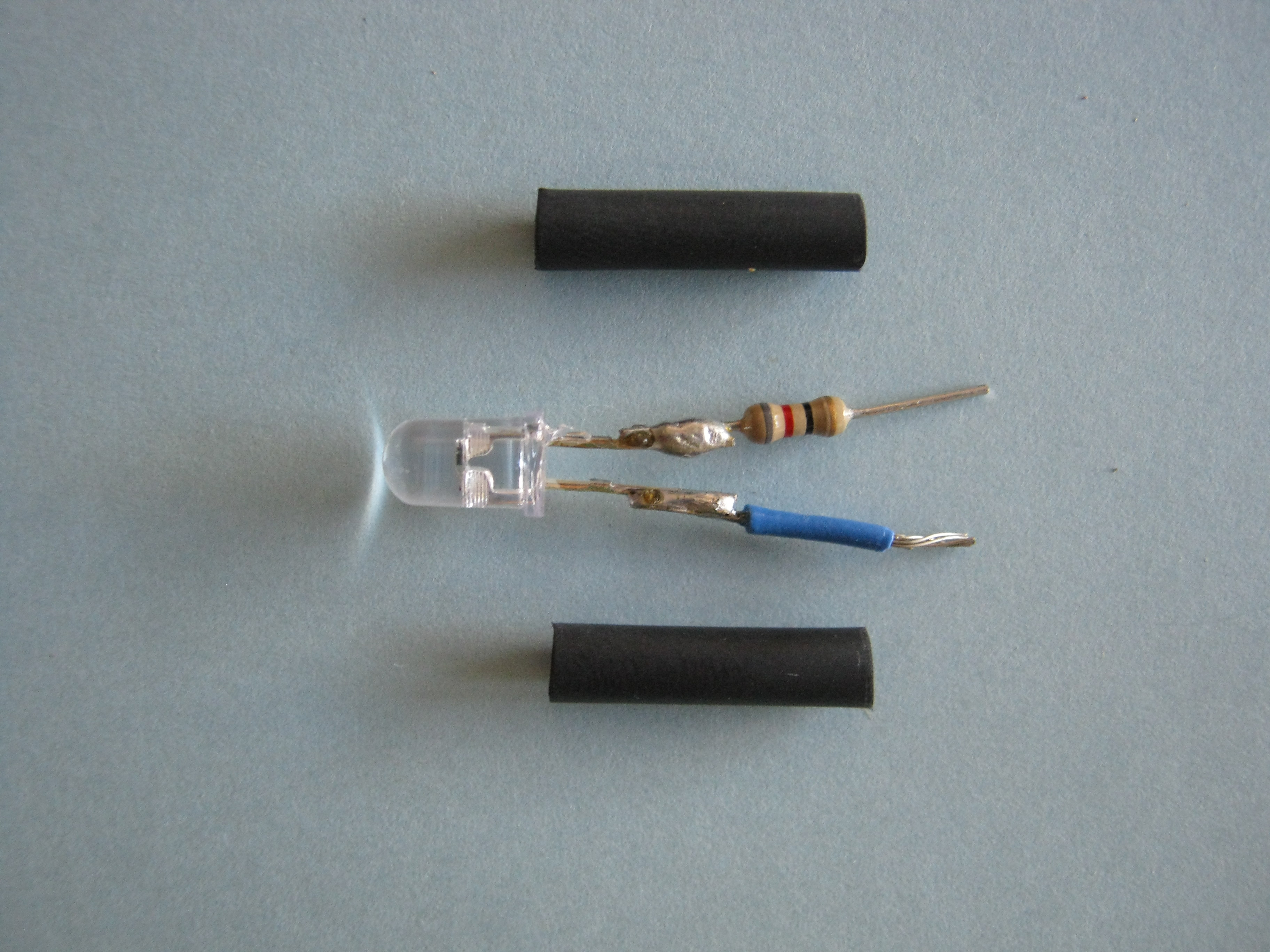 Picture of Insulate the LED Leads Prior to Attachment