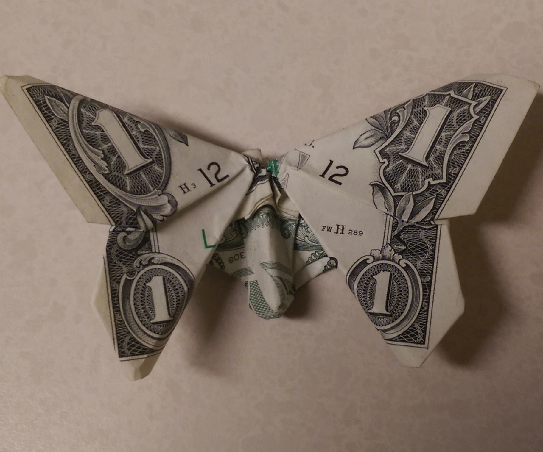Money Origami Butterfly 14 Steps With Pictures