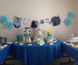 Party Table Idea: It's A Boy - Baby Shower