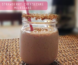 Strawberry Cheesecake Milkshake Recipe
