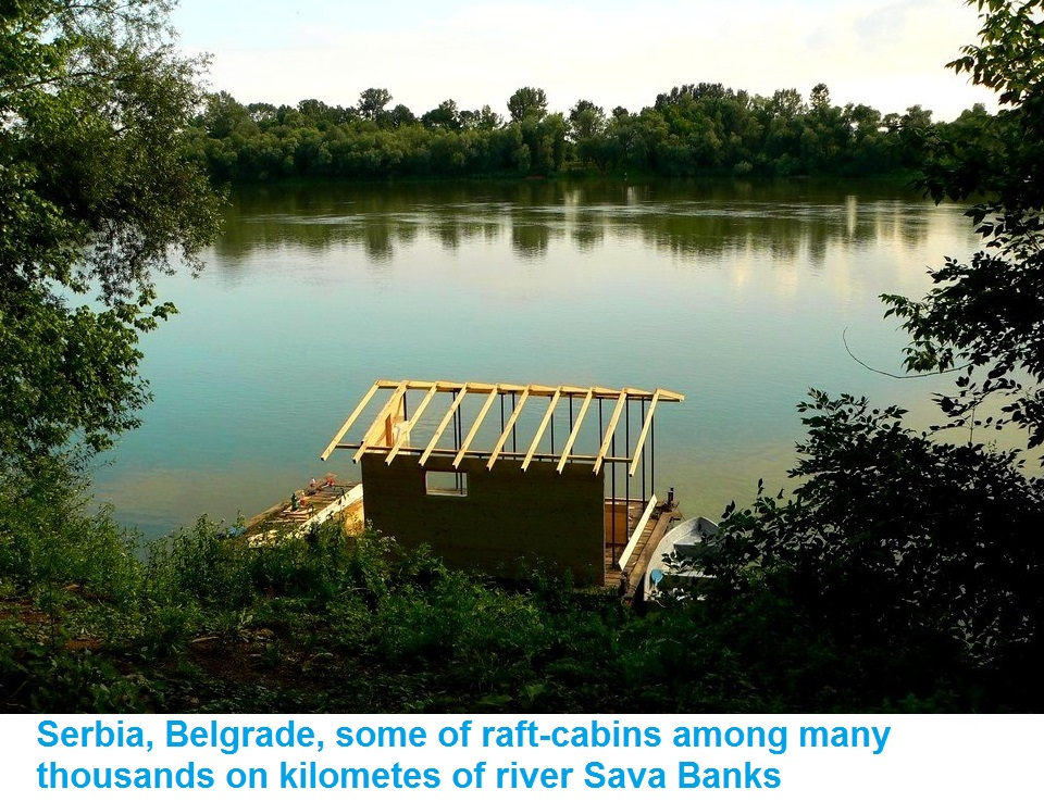 Picture of RIVER CABIN ON BARRELS (RAFT)