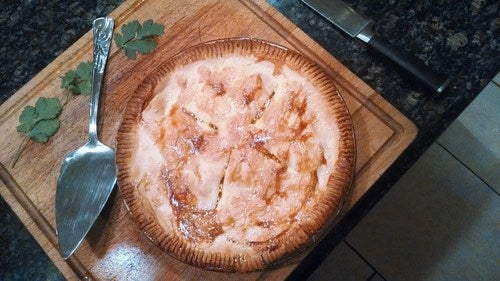 Red Thai Coconut Chicken Pie