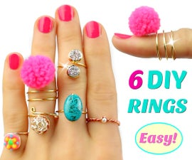 6 DIY rings | Adjustable & No special tools! Easy Rings