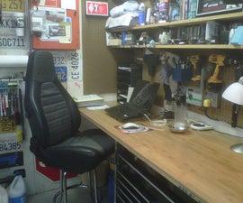 Man Cave Work Stool (Car Seat Conversion)