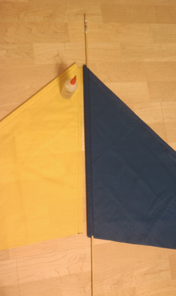 Picture of Gluing Fabric Together