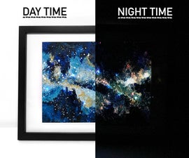 Glowing LED Galaxy Painting