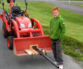 Rapid Fuelling Potato Cannon Mounted on Kubota Tractor