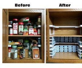 Organize a Spice Cupboard