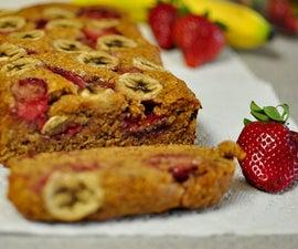 Strawberry Banana Bread (vegan)