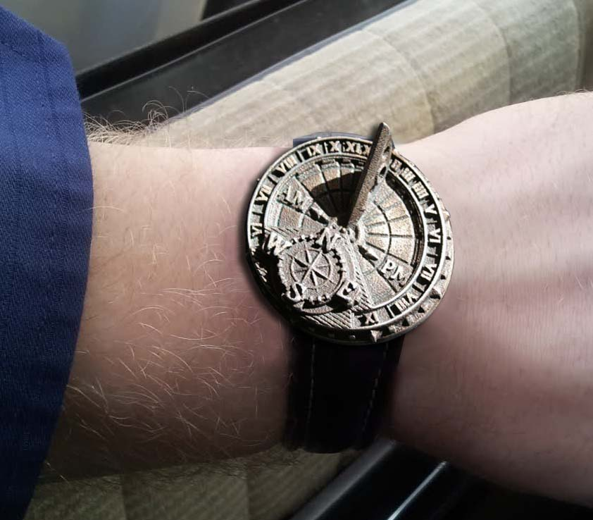 Picture of Custom, Functioning Sundial Wristwatch TJT2/6