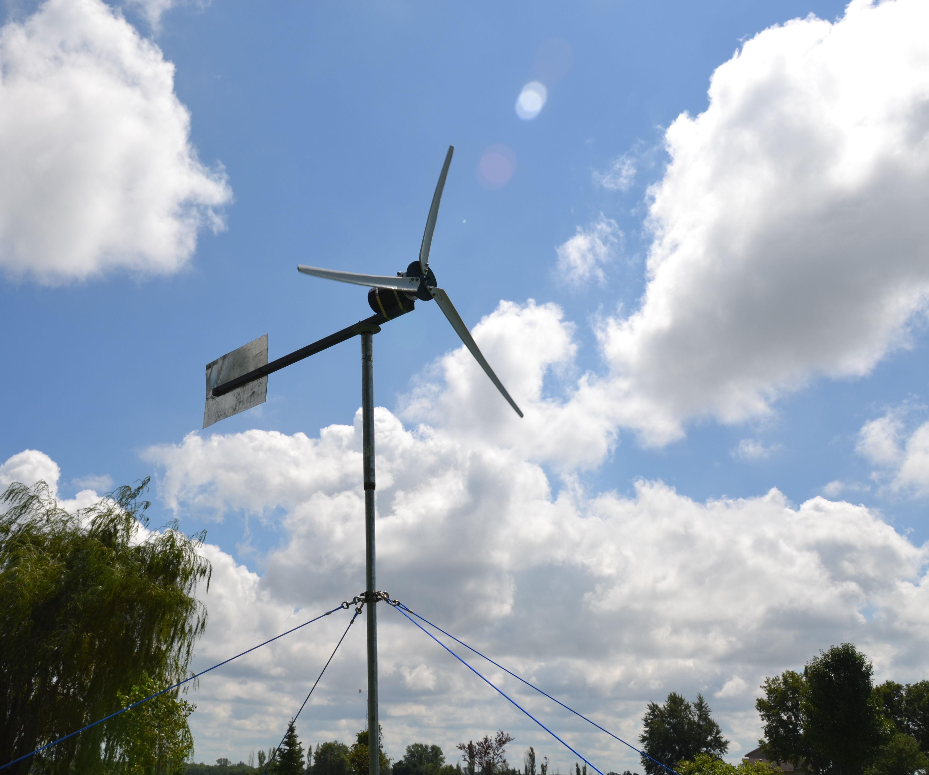 DIY  Watt Wind Turbine   Steps With Pictures - 12v 3 phase wind generator wiring diagram