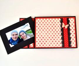 DIY Crafts - How to Make a Mini Album Card - Paper Photo Album Tutorial - Scrapbooking Gift Ideas