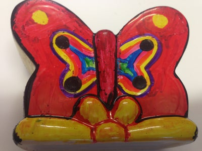 Ceramic Butterfly Ready to Go in Oven