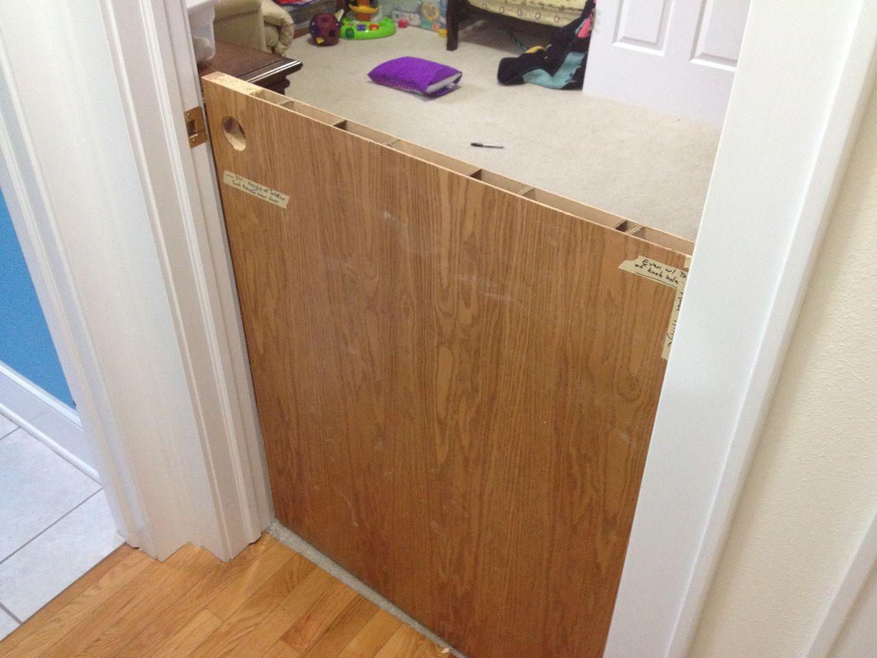 Picture of Cut Door in Half