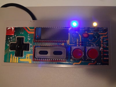 Adding Led's to NES Controller.