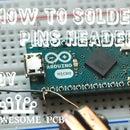 How to solder pins header