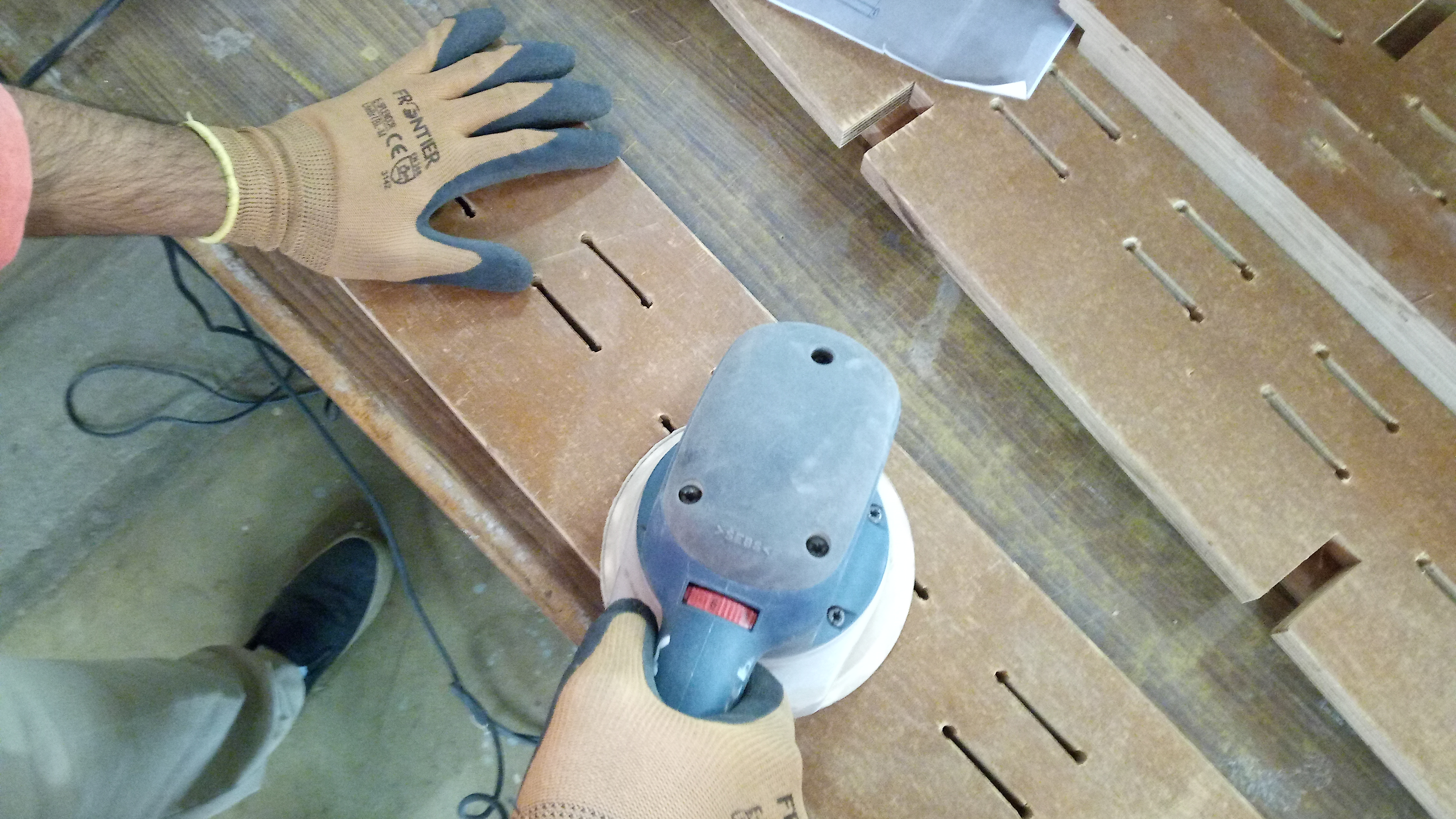 Picture of Sanding the Pieces