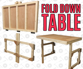 Fold Down Table - to Save Workshop Space