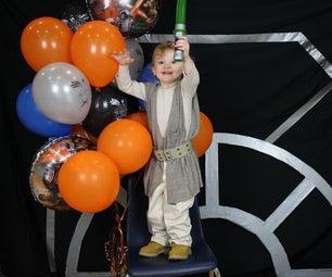 Super Quick Last Minute Toddler Jedi Costume