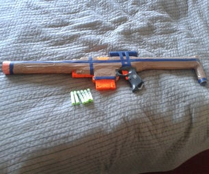 Nerf Stryfe Mod Custom Barrel, Stock, Sight and Colour