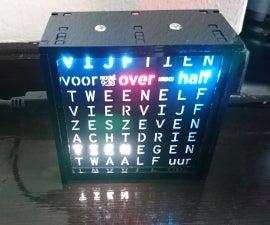 Dutch 8x8 Neopixel Word Clock