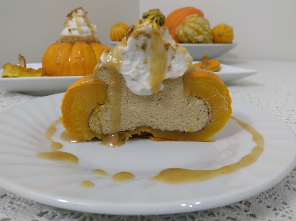 Picture of Vegan Pumpkin Pie Cheesecake (From Scratch!)