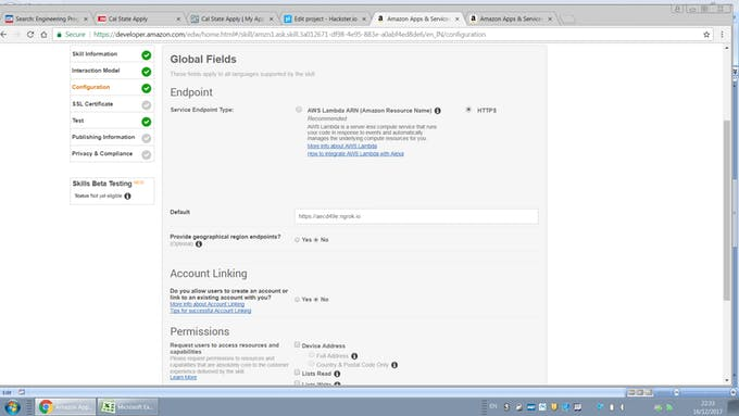 Picture of On Next Page It Will Ask Two Option for End Point One Is AWS and HTTPS