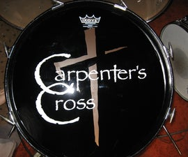 Add Vinyl Logo to Bass Drum