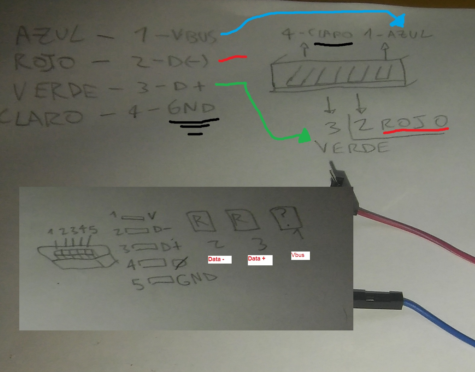 Picture of LOCATE WHERE THE USB TRACKS CONNECT
